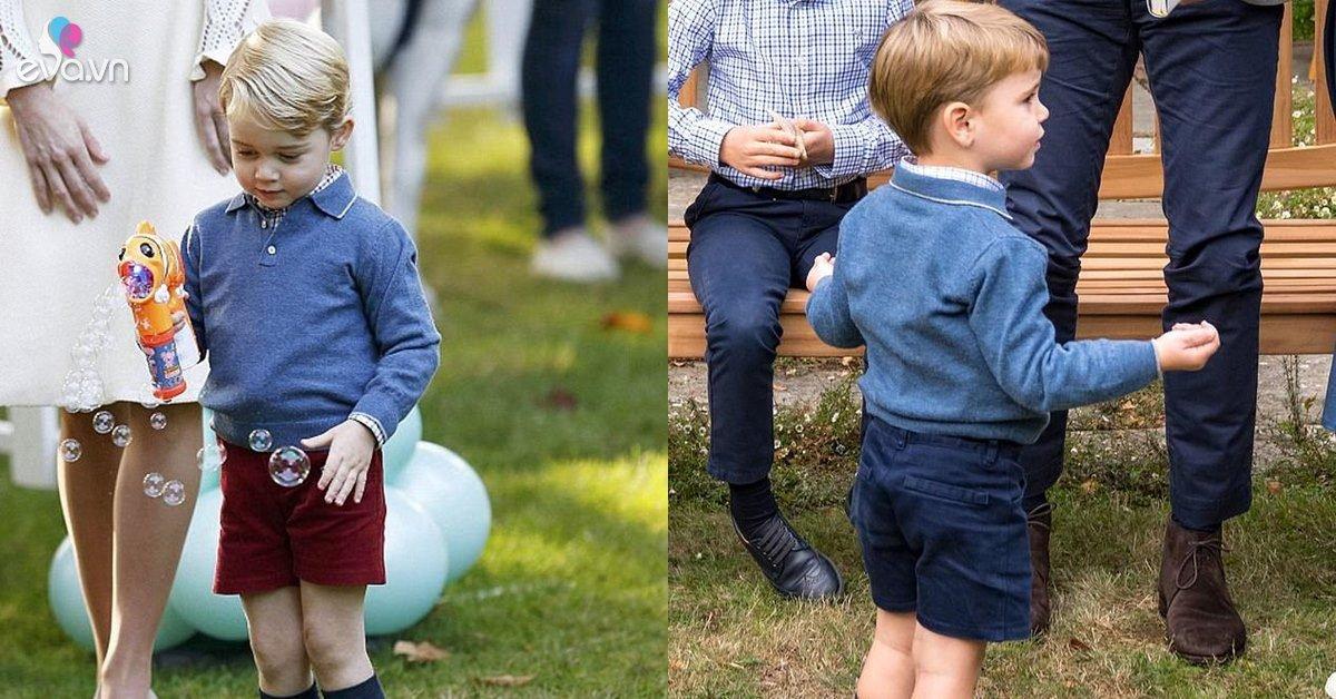 Hoàng tử út phải mặc đồ ăn mót của anh nhưng màn bị đòi quà của George mới gây sốt