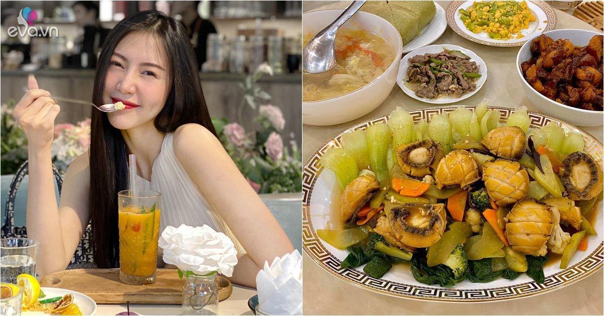 Gái xinh Người Ấy Là Ai nấu ăn sang như nhà hàng, có cả món chống tiểu tam