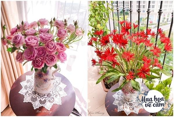 Cắm hoa tươi sợ nhanh héo, cô giáo Hà Nội mách chỗ đặt bình chơi được 2 tuần - 20