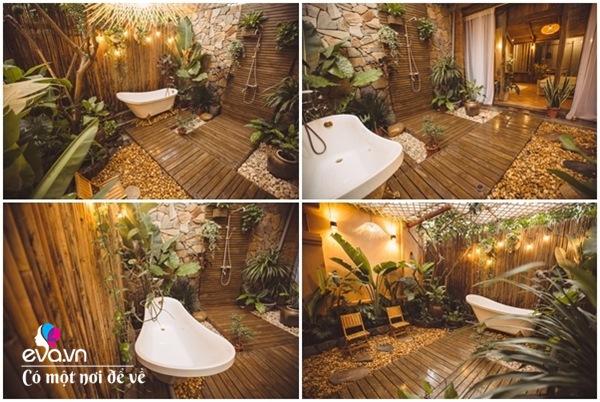 Muốn có khu tắm tiên, 8X vác tre, nứa về giữa thủ đô cải tạo sân vườn 55m2 đẹp mê - 4