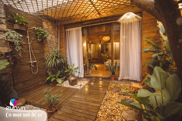 Muốn có khu tắm tiên, 8X vác tre, nứa về giữa thủ đô cải tạo sân vườn 55m2 đẹp mê - 5