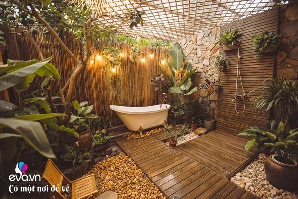 Muốn có khu tắm tiên, 8X vác tre, nứa về giữa thủ đô cải tạo sân vườn 55m2 đẹp mê - 18