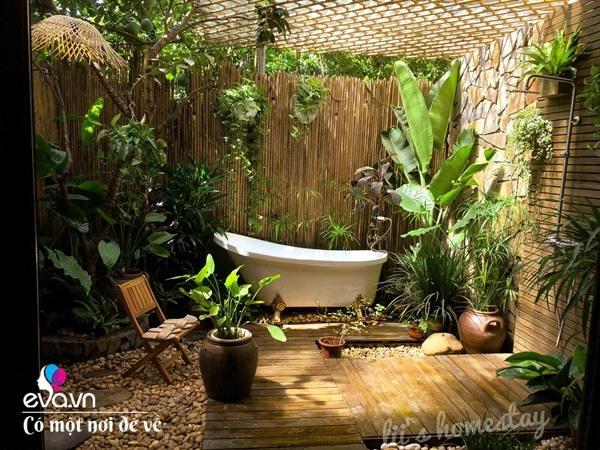 Muốn có khu tắm tiên, 8X vác tre, nứa về giữa thủ đô cải tạo sân vườn 55m2 đẹp mê - 17