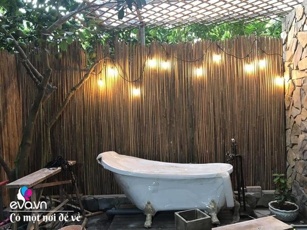 Muốn có khu tắm tiên, 8X vác tre, nứa về giữa thủ đô cải tạo sân vườn 55m2 đẹp mê - 23