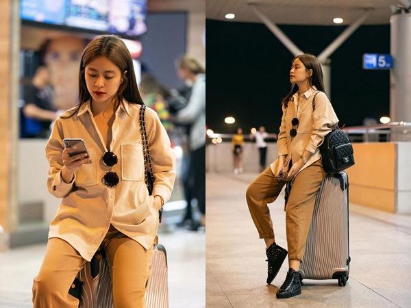 Thời trang sân bay sao Việt: người trùm kín mít, người phô ngực đầy eo thon - 3