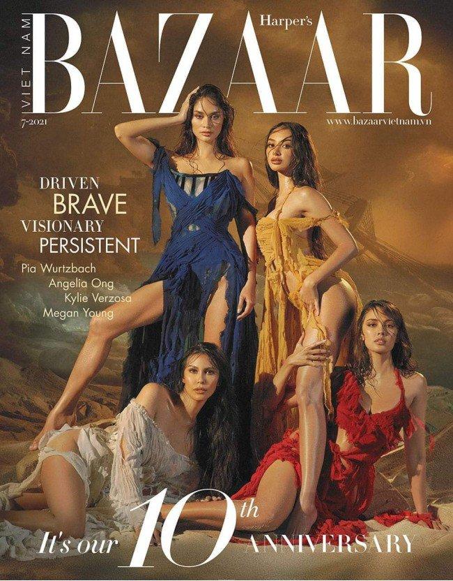4 nàng hậu đắt giá nhất Philippines diện đầm siêu rách rưới lên bìa tạp chí danh tiếng - 5