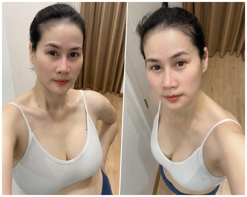 Bạn thân Hà Tăng vô vọng lấy lại dáng ngọc sau sinh, vẫn có làn da nhẵn thín cứu vớt - 8
