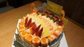 Độc đáo bánh sinh nhật làm từ cá sống giá tiền triệu