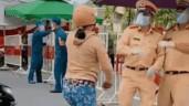 Người phụ nữ chửi bới, tấn công CSGT ở chốt kiểm soát dịch