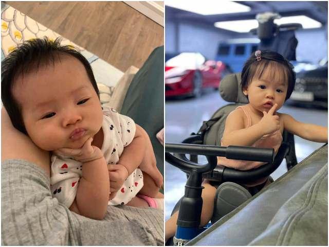 Con gái tròn 1 tuổi, Đàm Thu Trang công khai loạt ảnh hiếm cho thấy Suchin giống hệt Cường Đôla
