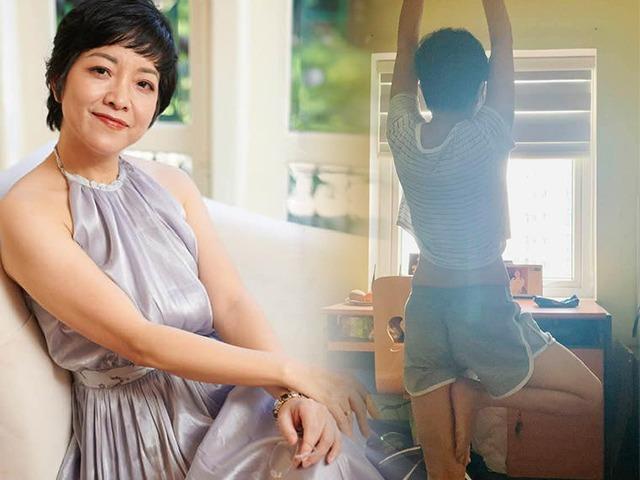 Dáng mi nhon như thiếu nữ khi tập yoga, MC Thảo Vân vẫn than đau khổ vì mặt tiền