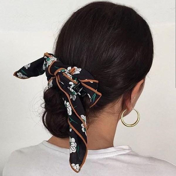 Biến tấu 4 kiểu tóc phong cách Hàn Quốc chỉ bằng 1 chiếc khăn lụa - 13