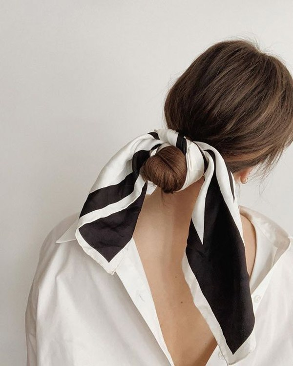 Biến tấu 4 kiểu tóc phong cách Hàn Quốc chỉ bằng 1 chiếc khăn lụa - 14