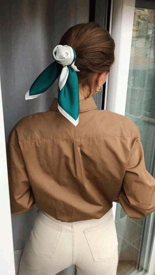 Biến tấu 4 kiểu tóc phong cách Hàn Quốc chỉ bằng 1 chiếc khăn lụa - 15