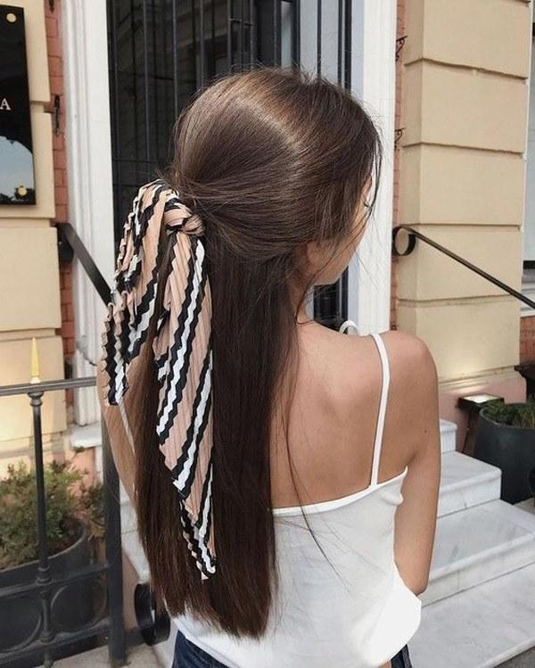 Biến tấu 4 kiểu tóc phong cách Hàn Quốc chỉ bằng 1 chiếc khăn lụa - 10