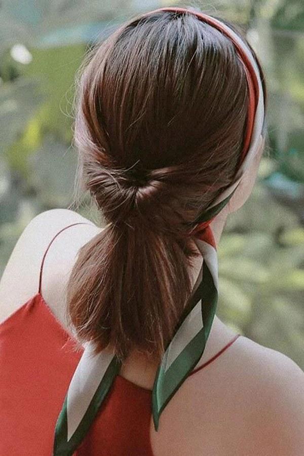 Biến tấu 4 kiểu tóc phong cách Hàn Quốc chỉ bằng 1 chiếc khăn lụa - 6