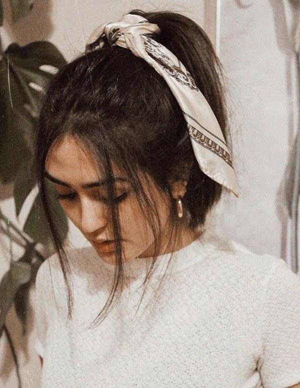 Biến tấu 4 kiểu tóc phong cách Hàn Quốc chỉ bằng 1 chiếc khăn lụa - 5