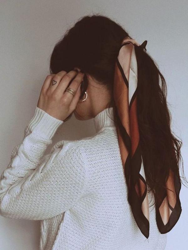 Biến tấu 4 kiểu tóc phong cách Hàn Quốc chỉ bằng 1 chiếc khăn lụa - 4