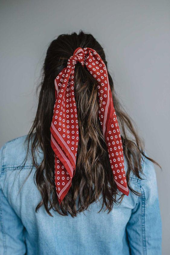 Biến tấu 4 kiểu tóc phong cách Hàn Quốc chỉ bằng 1 chiếc khăn lụa - 11