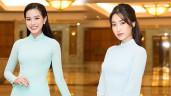Drama trên thảm đỏ giữa hai nàng Hậu đình đám Đỗ Mỹ Linh và Đỗ Thị Hà