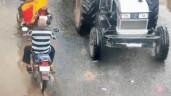 Ngã vào gầm xe máy kéo, đôi nam nữ thoát chết cực khó tin