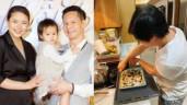 Đại gia Đức An vào bếp nấu ăn cho vợ trẻ, điểm khác biệt về ngoại hình gây chú ý