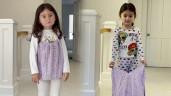 Sống sung túc tại Mỹ, nữ siêu mẫu này vẫn tái chế váy cũ để may đồ cho con