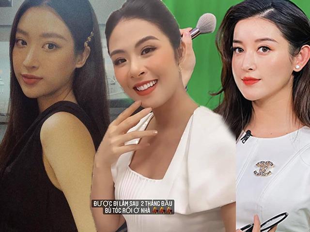 So gout make-up của các bông hậu ngày đi làm trở lại: Đỗ Mỹ Linh, Ngọc Hân chuẩn tác phong