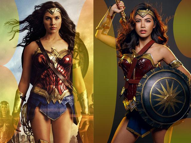 """Minh Tú cosplay """"nữ thần"""" Wonder Woman"""