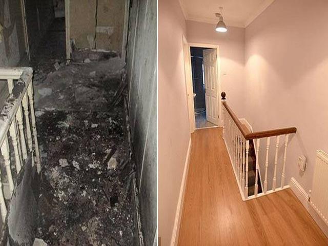 Mua nhà ma cũ nát giá 1 bảng Anh, cặp vợ chồng cải tạo thành căn hộ đẹp kinh ngạc