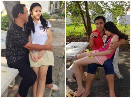 Hai con gái đã lớn nhưng Quyền Linh vẫn không ngại thể hiện tình cảm như ngày con còn bé