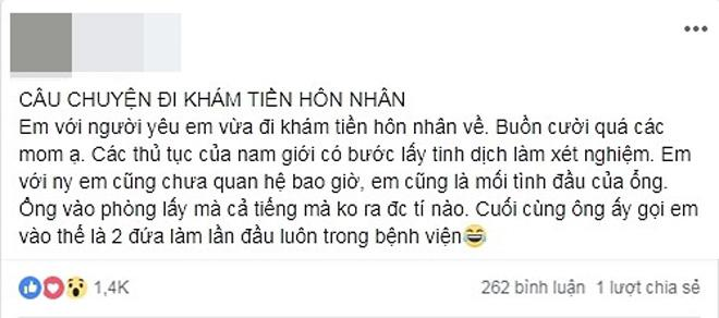 "di kham tien hon nhan, cap doi phai lam ""chuyen ay"" lan dau ngay trong benh vien - 1"