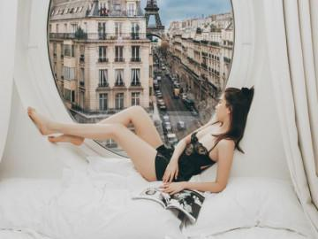 """Bị đàm tiếu: """"chụp cả trăm bức mà xe cộ Paris vẫn đứng yên"""", Ngọc Trinh tung clip hậu trường"""
