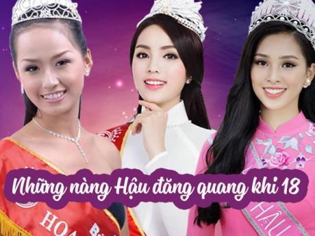 """3 nàng Hậu đăng quang khi 18, Mai Phương Thúy, Kỳ Duyên """"lột xác"""" hoàn toàn, còn Tiểu Vy?"""