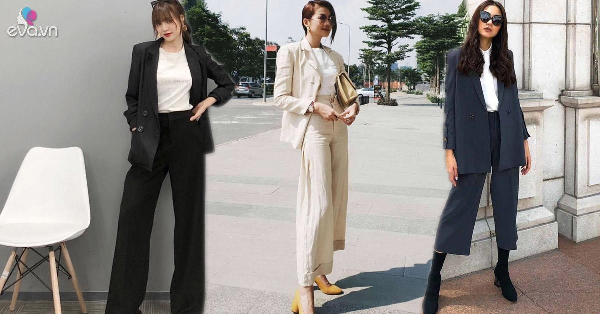 Học Sao Việt mặc nguyên một màu đơn giản vẫn sang, chân vẫn dài miên man