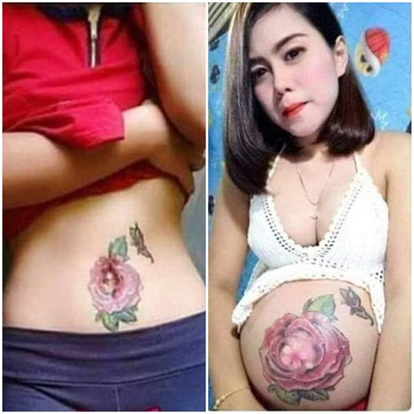 "me khoe anh bung bau ""no hoa"", dan mang lay loi hong cai ket ""hoa tan"" sau sinh - 1"