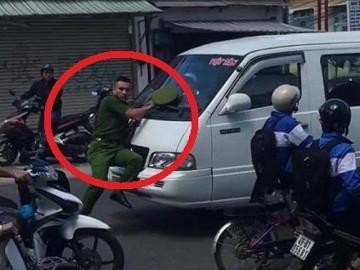 Xe khách vi phạm ủi cảnh sát hàng trăm mét trên phố Đà Lạt