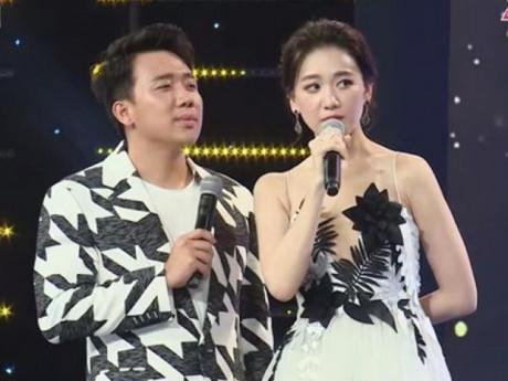 """Chê vợ có tuổi, Trấn Thành bị Hari Won """"tát"""" ngay trên sóng truyền hình"""