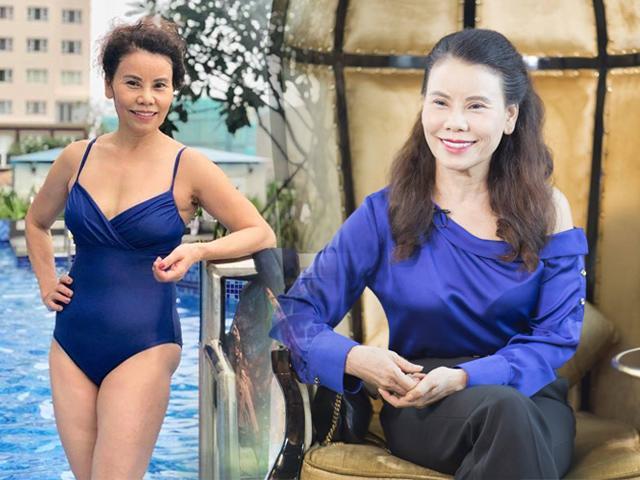 Ngỡ ngàng khi mẹ Hồ Ngọc Hà tự tin diện bikini, áo trễ vai ở tuổi 61