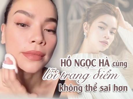 Khoe clip makeup chỉ trong 5 phút, Hồ Ngọc Hà lộ lỗi trang điểm không thể sai hơn