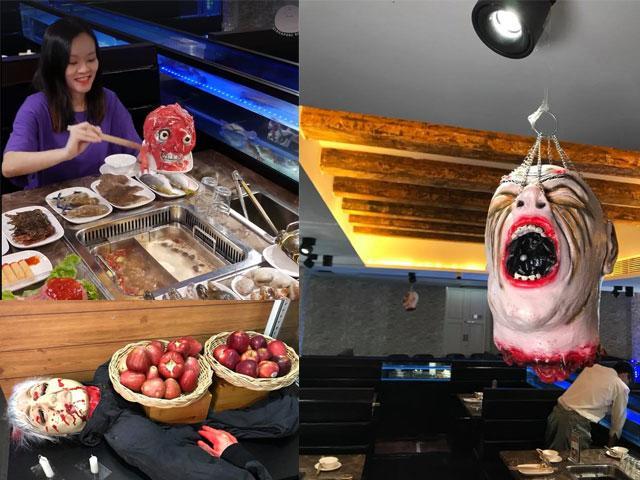 Lấy thịt từ đầu lâu để nhúng lẩu, khách còn bị dọa ma té khói nếu ăn ở nơi này