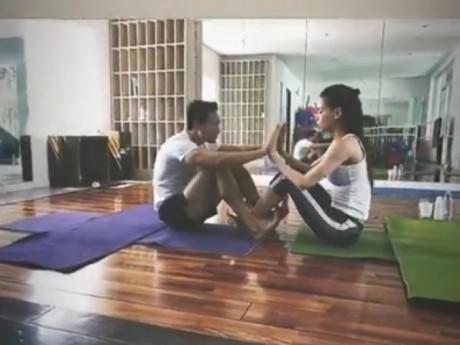 Hồ Ngọc Hà khoe clip tập yoga cùng Kim Lý, xoá tan tin đồn 'đường ai nấy đi'