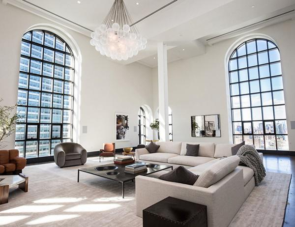 Choáng với căn hộ áp mái nghìn tỷ có phòng khách rộng ngang một bảo tàng - 3