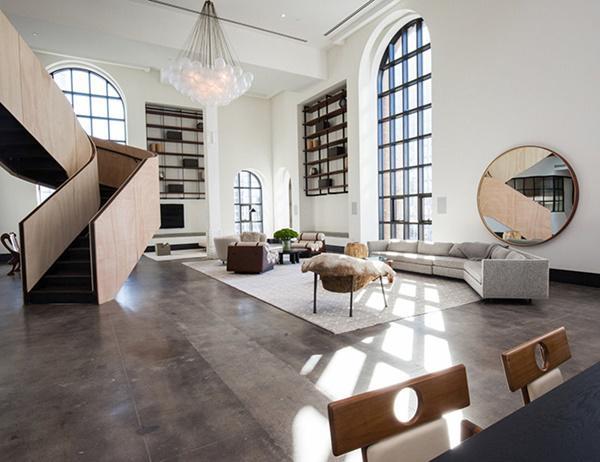 Choáng với căn hộ áp mái nghìn tỷ có phòng khách rộng ngang một bảo tàng - 6