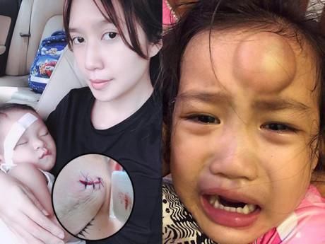 Những lần sao Việt bức xúc, xót xa vì con gặp tai nạn, thương nhất là con Ốc Thanh Vân