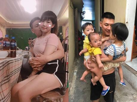 Mẹ khoe ảnh chồng bế 3 con, chị em giật thót vì thấy thêm một phụ nữ trong bức ảnh