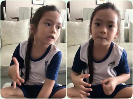 Con gái Đoan Trang đã xinh đẹp còn nói tiếng Anh cực hay khiến Ốc Thanh Vân nhảy vào khen