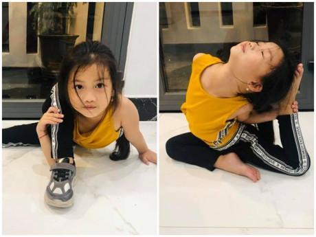 """Loạt hình con gái Ốc Thanh Vân uốn dẻo chân như """"người không xương"""" khiến ai cũng tròn mắt"""