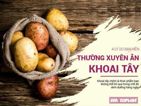 4 công dụng hữu hiệu đáng kinh ngạc của khoai tây có thể bạn chưa bao giờ biết