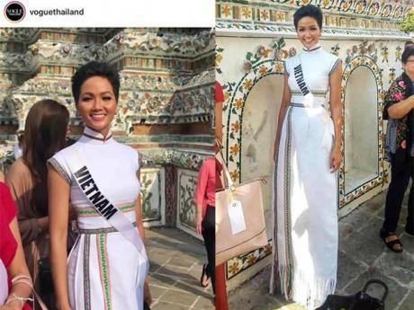 Diện áo dài hoa văn dân tộc Ê Đê, H' Hen Niê lên hẳn tạp chí hàng đầu Thái Lan